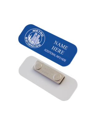Plastic name tag for Plaque ondulee polycarbonate transparent