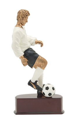 "SOCCER ACTION COLOR RESIN 8 1/4"" (MALE)"