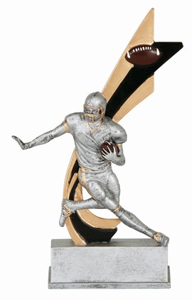 "LIVE ACTION FOOTBALL RESIN 8"" TALL"