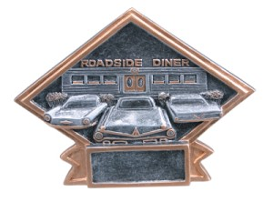 Car Show Diamond Resin Plate