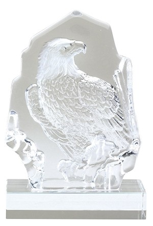 Glass Eagle Sculpture