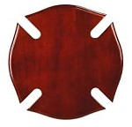Piano Finish Maltese Cross Plaque