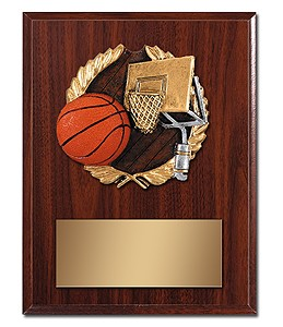 Plaque With Sports Mylar