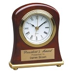 Bell Shaped Rosewood Piano Finish Clock
