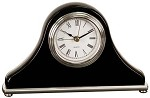 Black Piano Finish Mantel Desk Clock