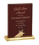 JDS Piano Finish Star Stand Up Plaque