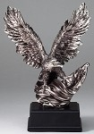 RFB080 Silver Eagle Sculpture With Flag