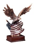 Bronze Eagle With American Flag