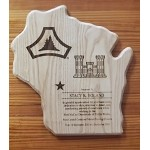 Solid Wood Lasered Ash Plaque