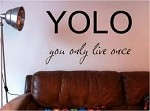 YOLO Vinyl Wall Art